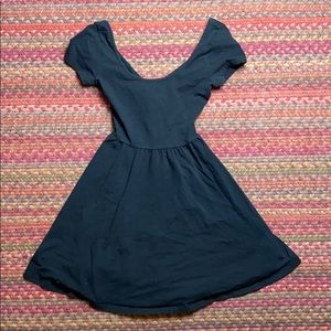 CRISS CROSS BACK SKATER DRESS